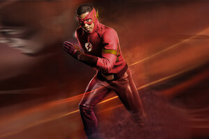 Wally West As The Flash Red Suit Wallpaper