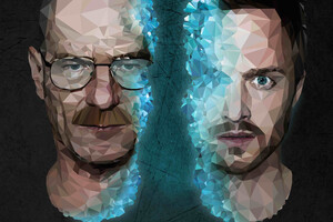 Walter White And Jesse Pinkman Breaking Bad 4k Low Poly