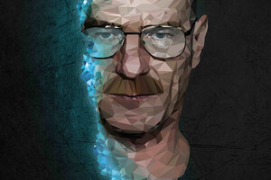 Walter White In Breaking Bad 4k Low Poly Wallpaper