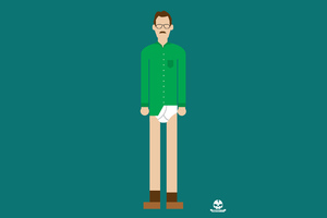 Walter White Minimalism 4k Wallpaper
