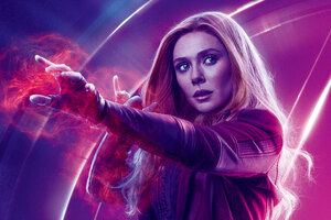 Wanda Maximoff In Avengers Infinity War 8k Poster