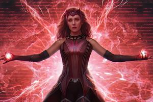 Wanda Vision From Marvel 5k