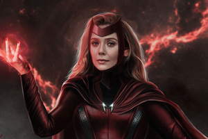Wanda Vision Scarlet Witch Tv Series 5k