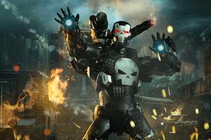 War Machine Punisher 4k