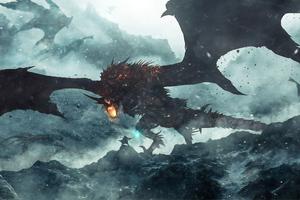 War With Dragon Wallpaper