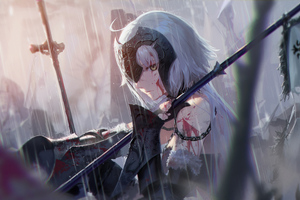 Warrior Anime Girl 5k Wallpaper