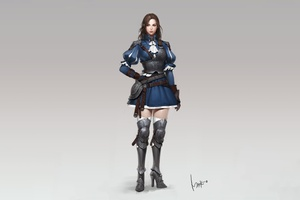 Warrior Girl 5k Wallpaper
