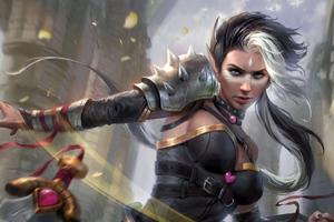 Warrior Girl Adalia 5k Wallpaper