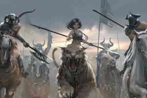 Warrior Girl Anime 5k Wallpaper