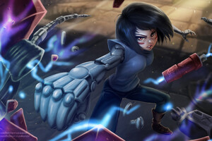 Warrior Hunter Alita Battle Angel Wallpaper