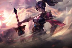 Warrior Outdoor With Sword