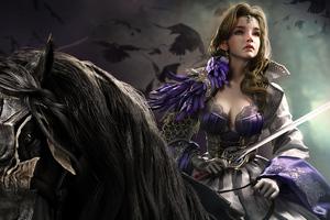 Warrior Queen On Horse 4k Wallpaper