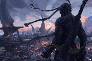 Warrior Sword Digital Art