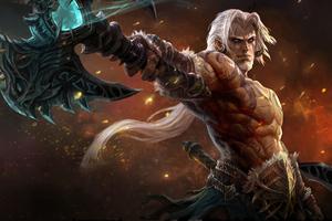 Warrior White Hair Man Wallpaper