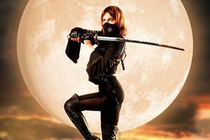 Warrior Women With Sword Wallpaper