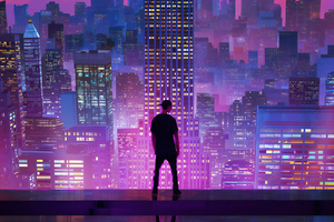 Watching The City Digital Art 4k