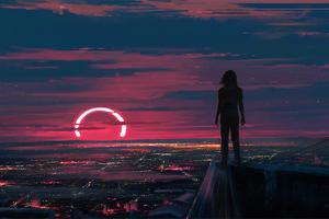 Watching The Sunset 4k Wallpaper