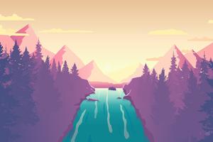 Waterfall From Top 8k Wallpaper
