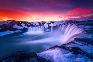 Waterfall Iceland Wallpaper