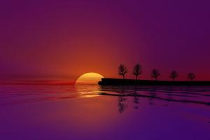 Waterscape Sunset 4k Wallpaper