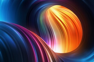 Wave Abstract Colorful Art Graphics Wallpaper