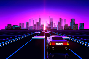 Way To Retrowave City Wallpaper