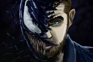Neon Noir Venom Art, HD Superheroes, 4k Wallpapers, Images ...