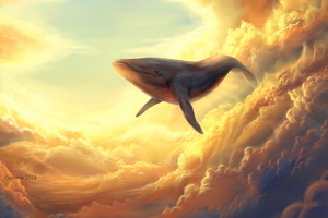 Whale In The Clouds Wallpaper