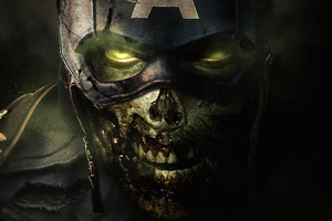 What If Undead Captain America Wallpaper