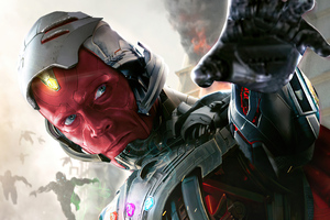 What If Vision Ultron Wallpaper