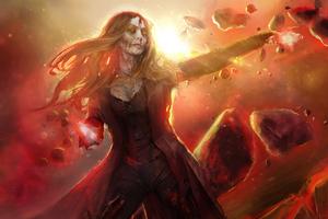 What If Zombie Wanda Vision Fan Art 5k Wallpaper