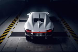 White Bugatti Chiron Super Sport Rear Cgi 5k Wallpaper