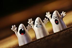White Creepy Ghost Toy