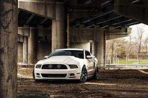 White Ford Mustang Wallpaper
