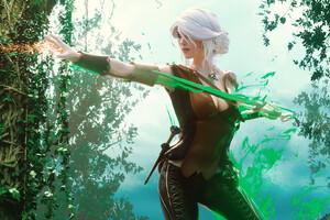 White Hair Magic Women