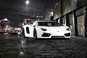 White Lamborghini Aventador 5k New