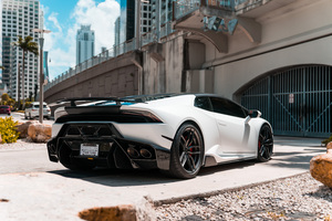 White Lamborghini Huracan 5k New Wallpaper