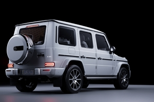 White Mercedes Benz G 63 Rear Wallpaper