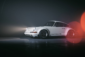 White Porsche 4k Wallpaper
