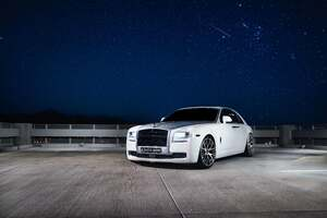 White Rolls Royce 2021 5k Wallpaper