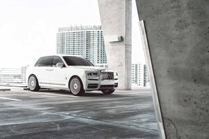 White Rolls Royce Cullinan 8k 2020 Wallpaper