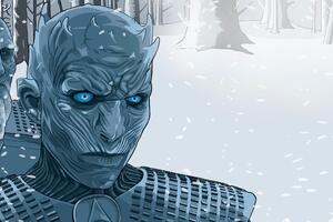 White Walker Illustration Wallpaper