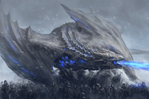 White Walkers Dragon Game Of Thrones