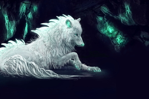 White Wolf Fan Art Wallpaper