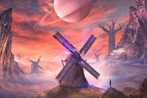 Widnmills Of Magical Land 4k Wallpaper