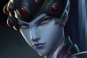Widowmaker Brown Eyes 4k