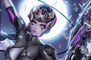 Widowmaker Fanatasy Game Art 4k