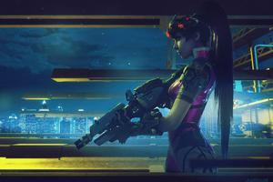 Widowmaker Overwatch Artwork 4k