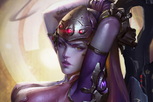 Widowmaker Overwatch Fantasy Art 4k
