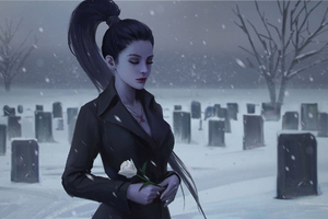 Widowmaker Overwatch In Graveyard